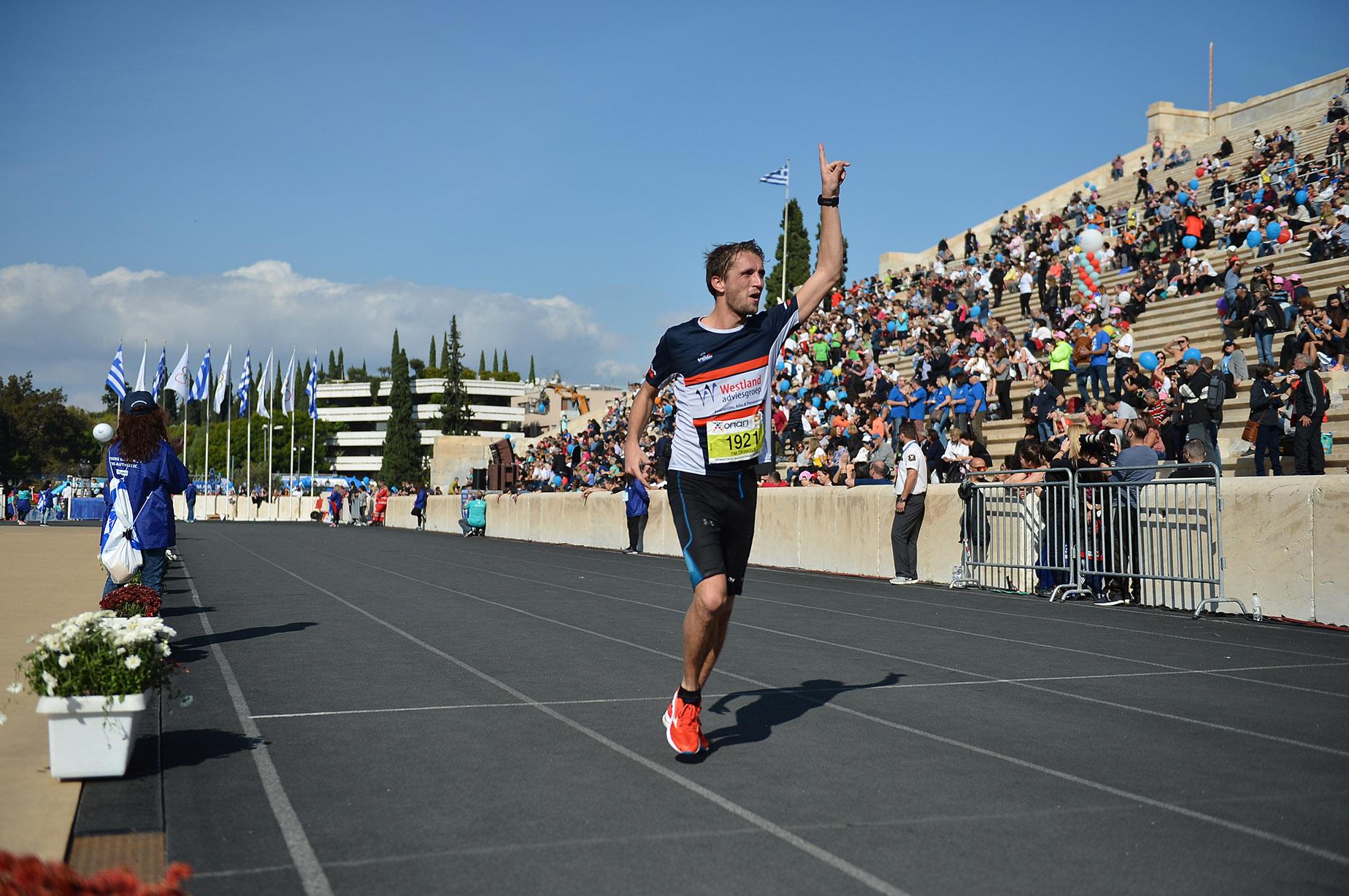 Tim aan de finish: victorie, blijdschap afzien en pijn...